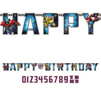 Transformers Add-An-Age Letter Banner (Each) - Party Supplies