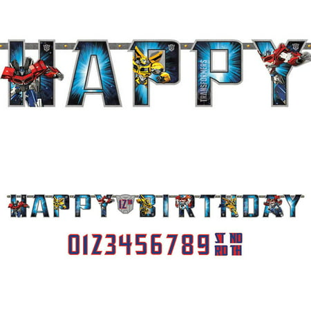 Transformers Birthday Banner (Transformers Add-An-Age Letter Banner (Each) - Party)