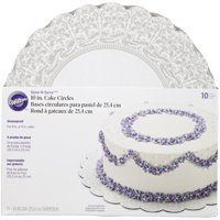 Wilton Show 'N Serve Cake Circle, 10 inch, 10 pack