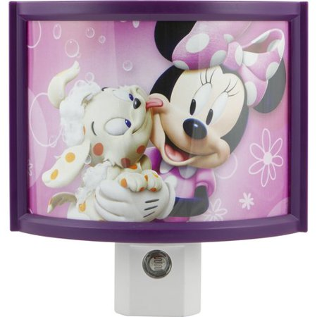 Disney Minnie's Bowtique LED Curved Shade Plug-In Night Light, Light Sensing, 13367 - Minnie's Bowtique Halloween