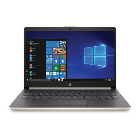 "HP 14"" Laptop, AMD Ryzen 3 3200U, 4GB SDRAM, 128GB SSD, Pale Gold, 14-dk0024wm"