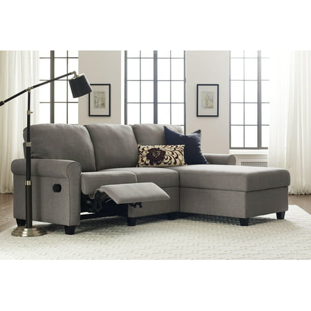 Serta Copenhagen Reclining Sectional with Right Storage Chaise - Gray ()