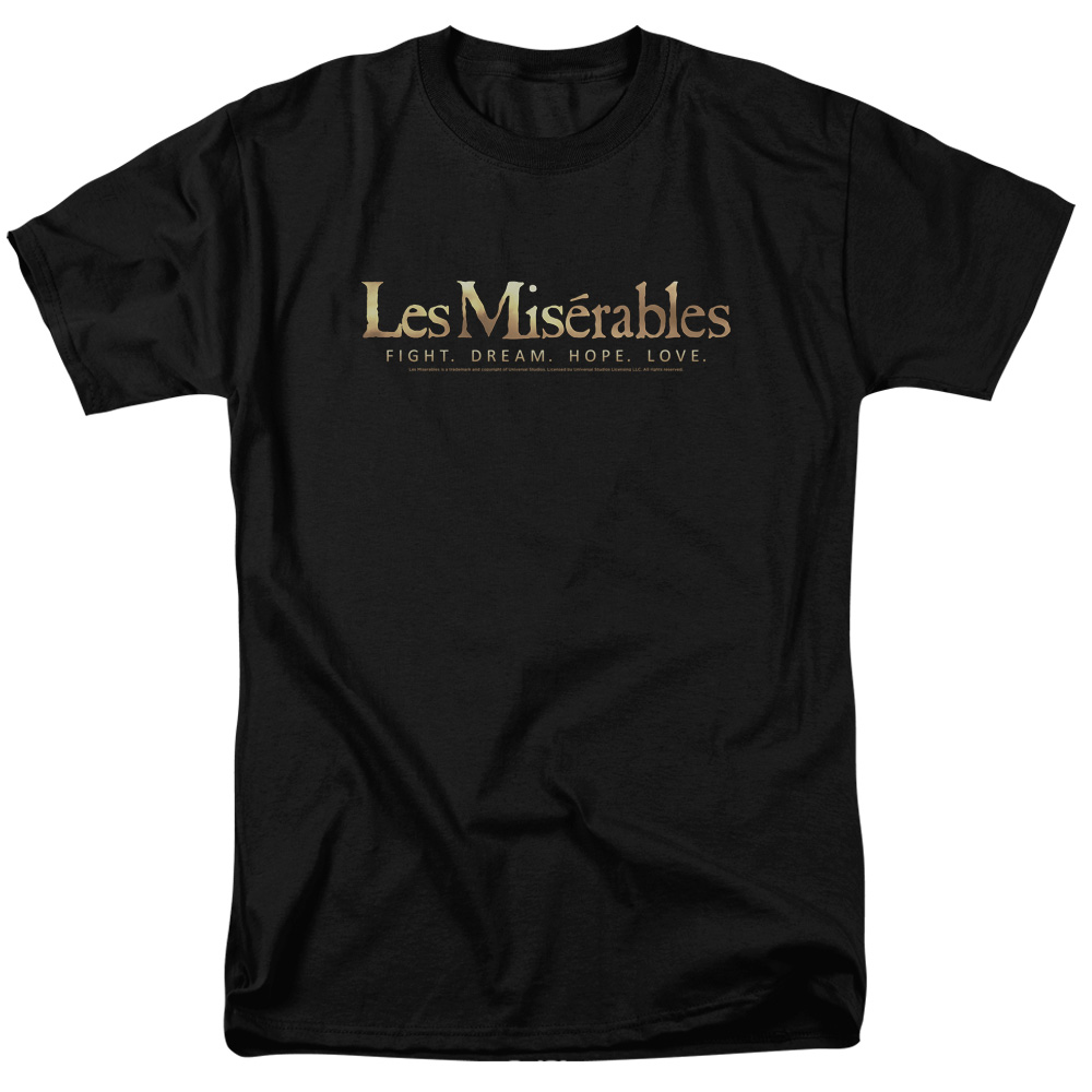 Les Miserables Romantic Historical Musical Drama Movie Logo Adult T-Shirt Tee
