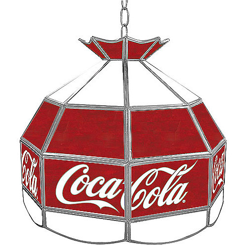 "Trademark Global Coca Cola Vintage 16"" Stained Glass Tiffany Lamp Light Fixture by TRADEMARK GAMES INC"