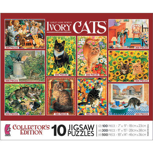 Ceaco 10/1 Ivory Cats Multipack Puzzle