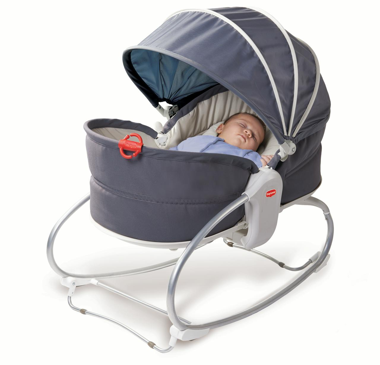 Tiny Love 3-in-1 Cozy Baby Rocker-Napper with Recline - Grey