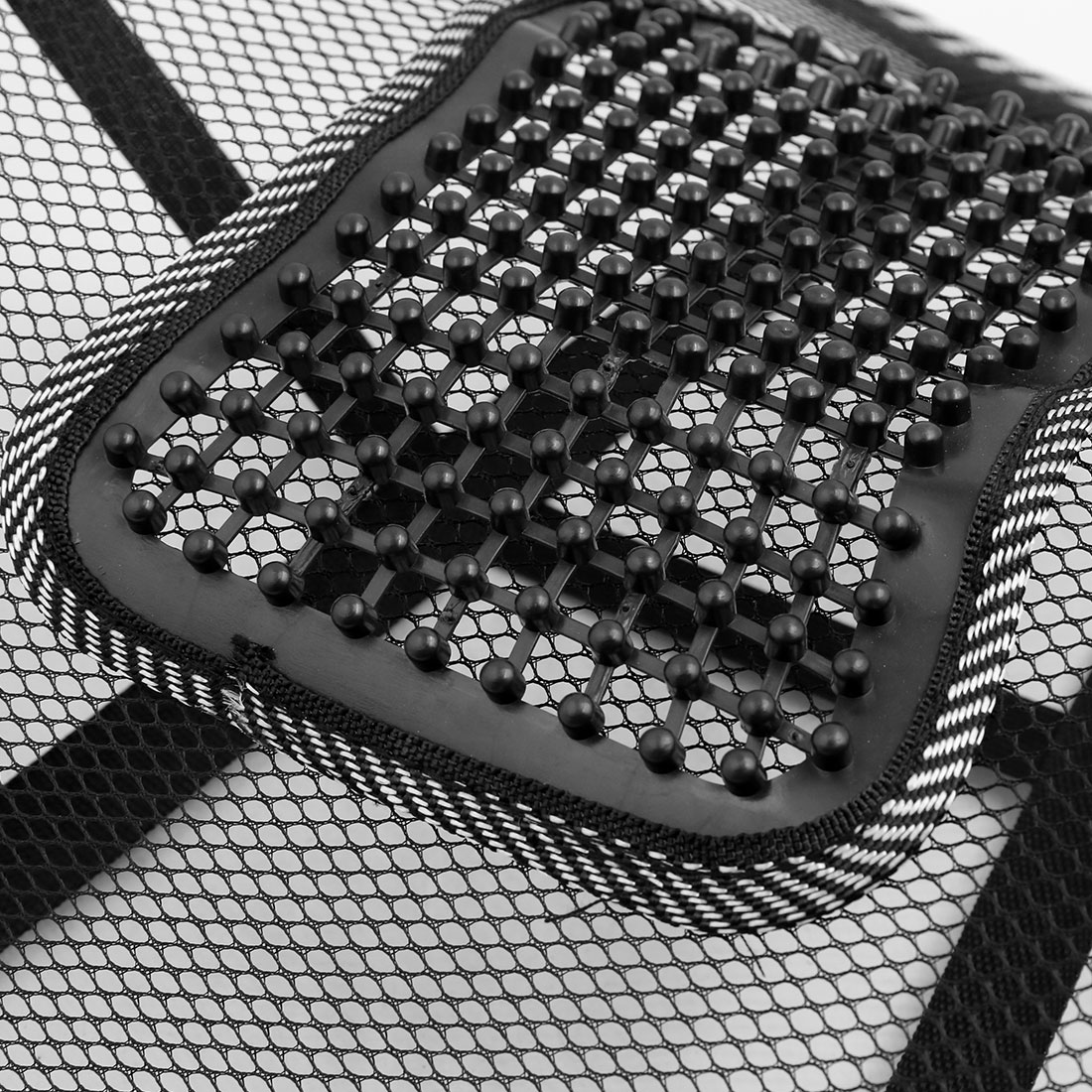 Black White Waist Lumbar Massage Mesh Cushion Back Support Pad for Car Office - image 3 of 5