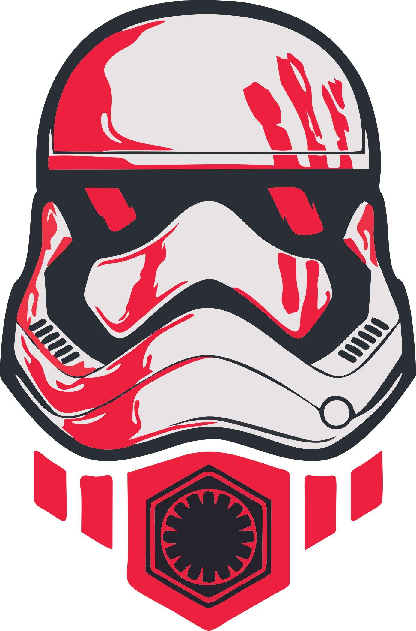 Star Wars Cartoon Stormtrooper Head Sticker Bumper Decal /'/'SIZES/'/'