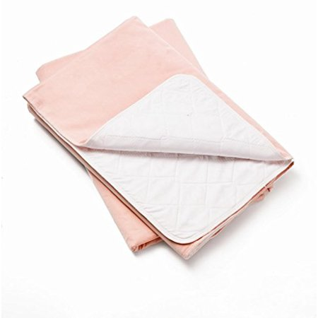 3 Pack Lap Pads - 3 Pack, Bed Pad Standard Reusable Underpad Washable 34x36 Pink