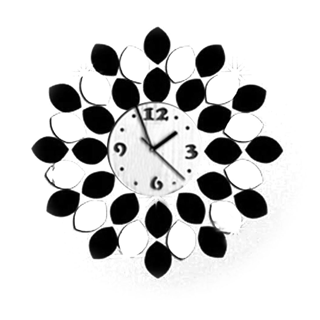 Clock Design DI Living Room Bedroom Decal Wall Decor Sticker