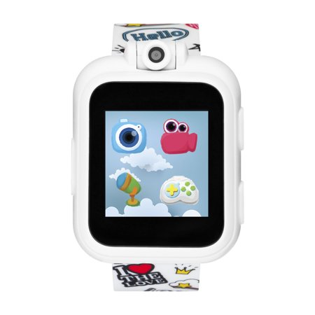 iTech Jr. Kids Smartwatch for Girls - White Graffiti