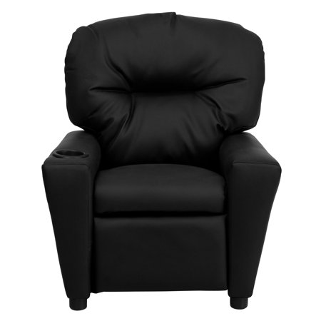 Flash Furniture Kids' Leather Recliner with Cup Holder, Multiple