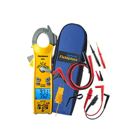 Fieldpiece SC440 Essential Clamp Meter with Dual Display, True RMS, Duty cycle, and InRush Current (Clamp Meter Fieldpiece)