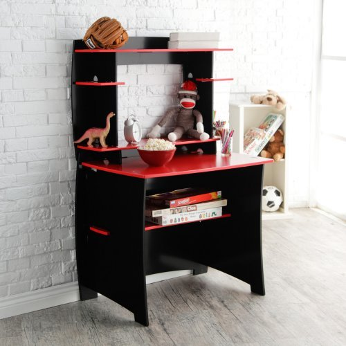 Legare 36 in. Desk with Hutch - Red and Black