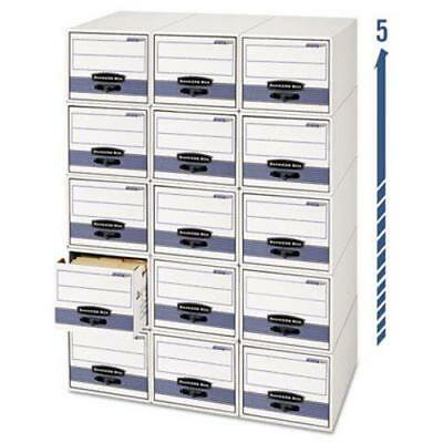 Storage/Drawer Steel Plus Storage Box, Legal, White/Blue, 6/Carton