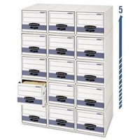 Storage/Drawer Steel Plus Storage Box, Legal, White/Blue, 6/Carton