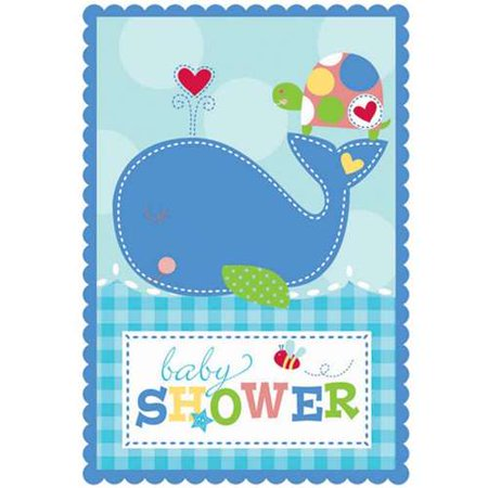 Baby Shower 'Ahoy Baby'  Invitations w/ Envelopes (8ct)