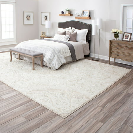 Mohawk Home Francesca Farmhouse Area Rug, Cream, 8' x 10' ()