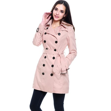 Women's Viv Hooded Mid Length Trench (Hooded Mid Length Coat)