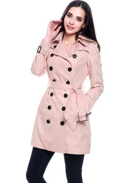 Women's Viv Hooded Mid Length Trench Coat