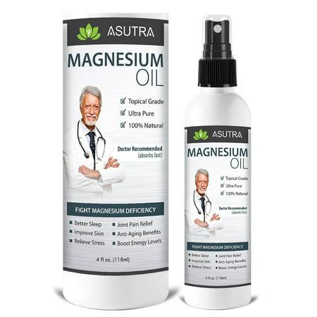 Zechstein huile de magnésium pur spray - Triple Filtré pour MOINS ITCH ET MOINS STING / efficace rapide transdermiques Absorption - Ultra Pure & + FREE Potent magnésium E-Book (une bouteille 4 oz)
