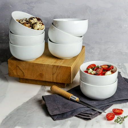 - Better Homes & Gardens Small Coupe Bowl, White, Set of 8