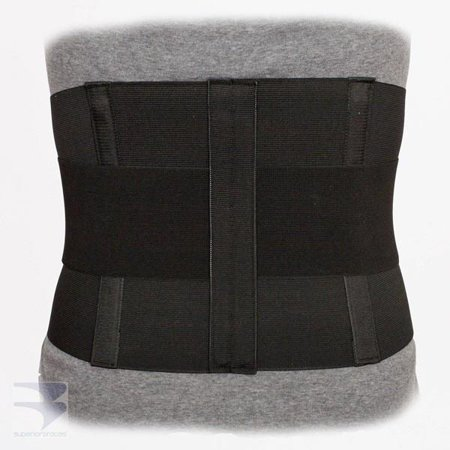 Image of 10in. Lumbar Sacral Support w/ Double Pull Tension Straps - White - (20in-58in. Waist)