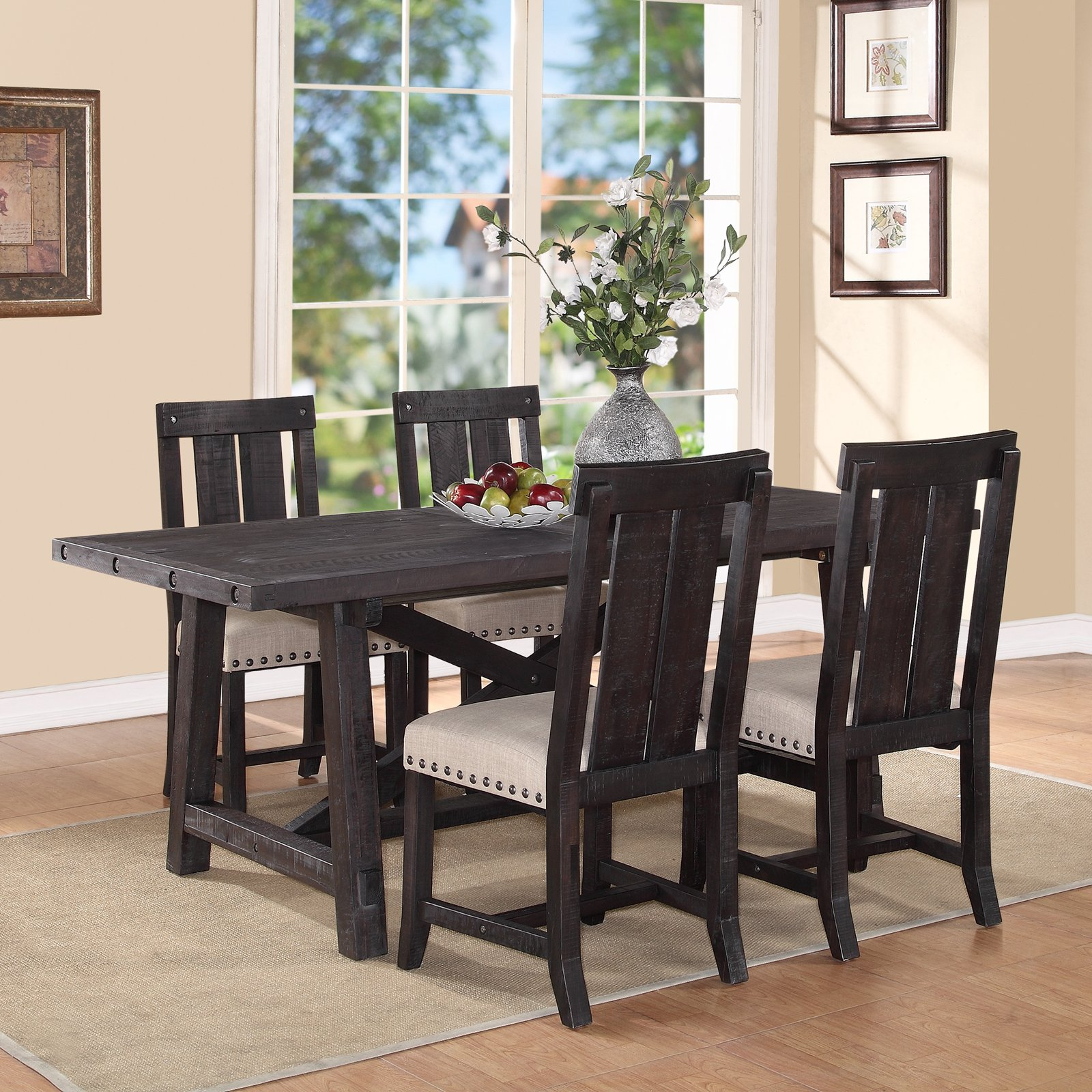 Rectangle Dining Room Tables Modus Yosemite 5 Piece Rectangular Dining Table Set With Wood