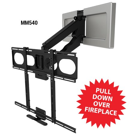 Steel Above Mount - MantelMount MM540 Pull Down Fireplace TV Mount For 44