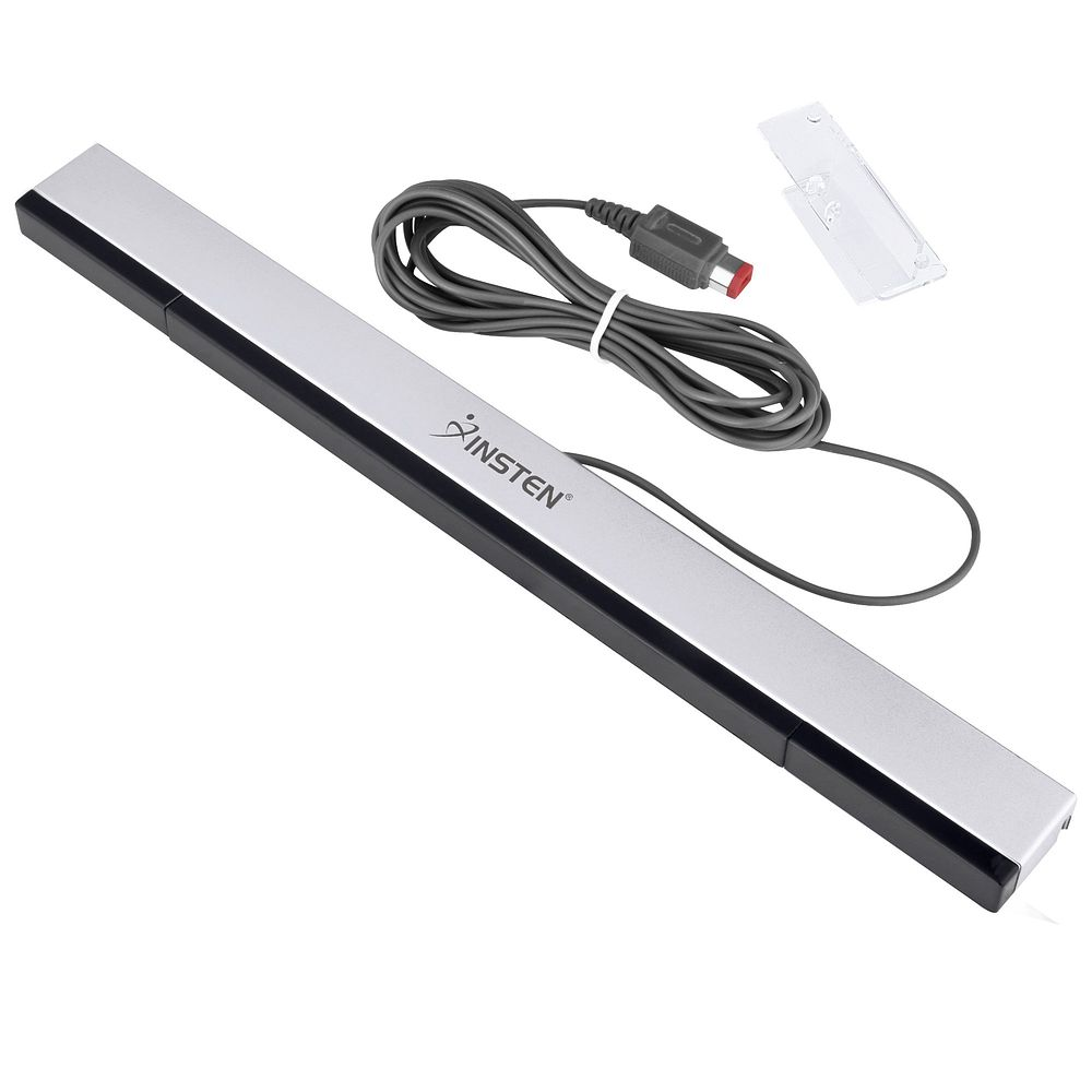 Wii Sensor Bar by Insten Replacement Wired Sensor Bar with Stand For Nintendo Wii / Wii U