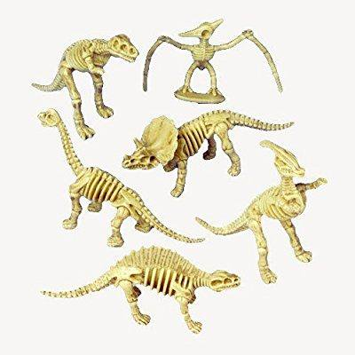 2 dozen (24) dinosaur skeleton figures - 3.5 party favors - prizes - pretend play science dino bones - Dinasour Skeleton