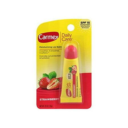 Carmex Daily Care Moisturizing Lip Balm, Strawberry, 0.35 oz