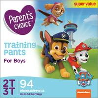 Parent's Choice Boys' Training Pants, Size 2T-3T (Choose Count)
