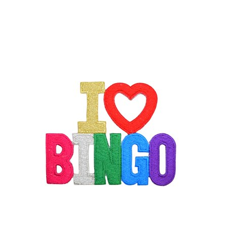 I Love Bingo - Iron on Applique/Embroidered Patch - I Love Bingo