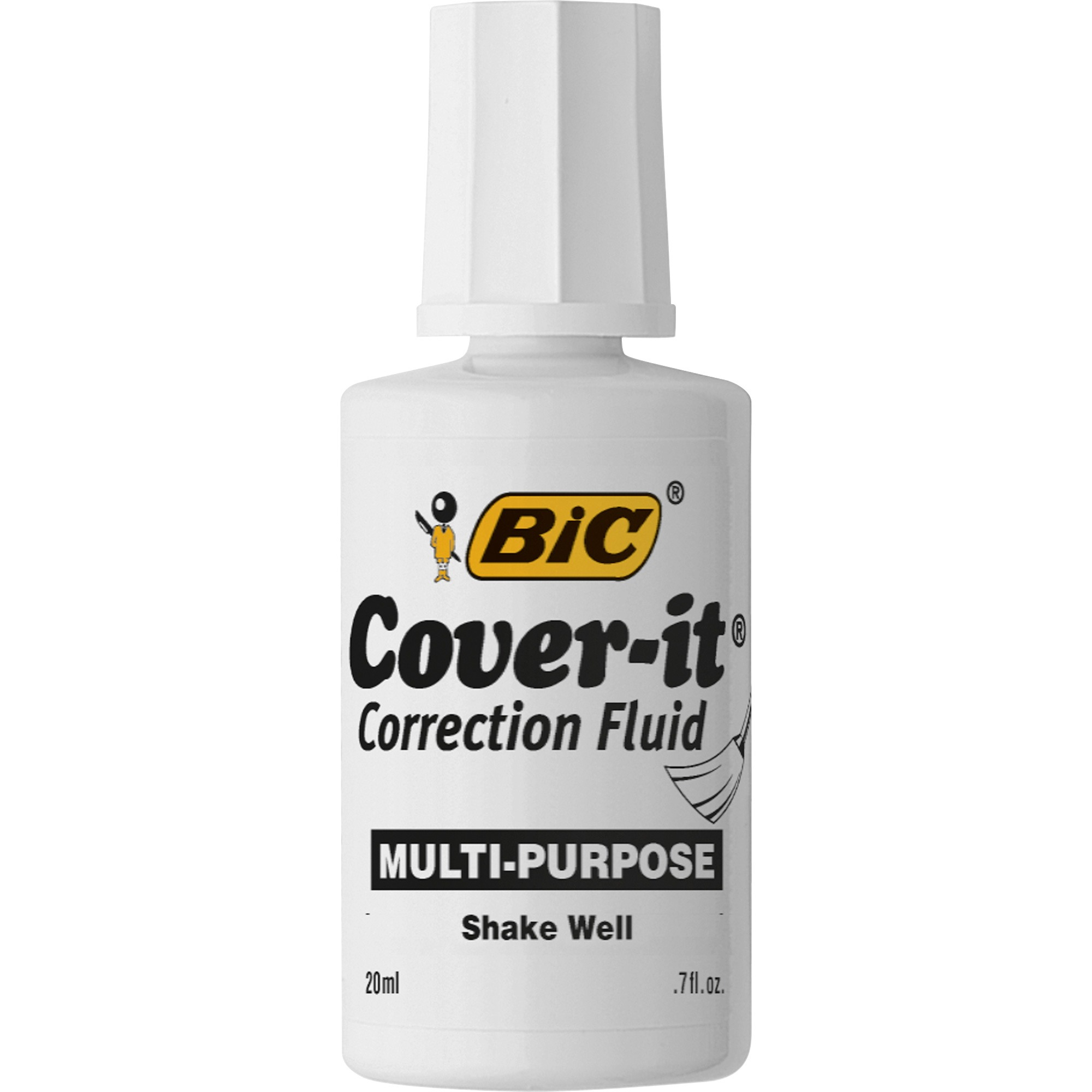 Wite-Out Cover-it Correction Fluid, 1 Dozen (Quantity)