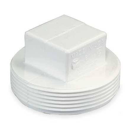 MUELLER INDUSTRIES Threaded Plug,MPT,PVC,1 1/2 In,