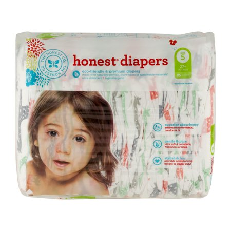 The Honest Company Disposable Diapers   Giraffe   Size 5   25 Ct