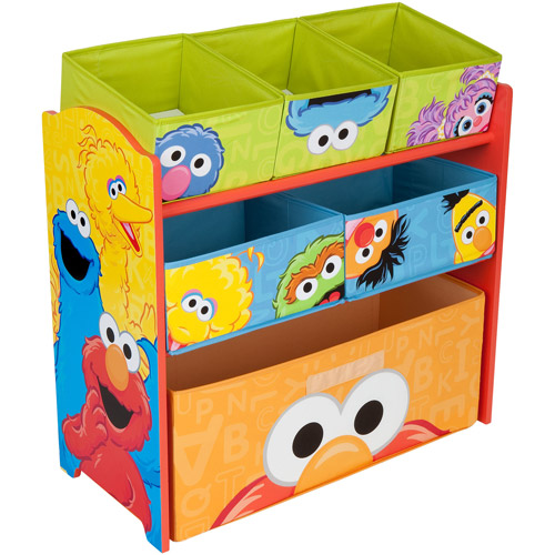 Incroyable Sesame Street Multi Bin Toy Organizer