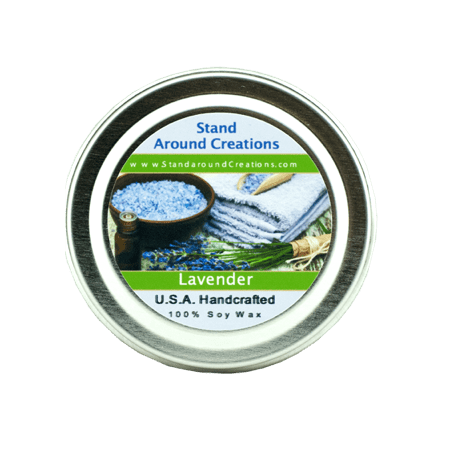 - LAVENDER TIN 2-OZ. ALL NATURAL SOY CANDLE