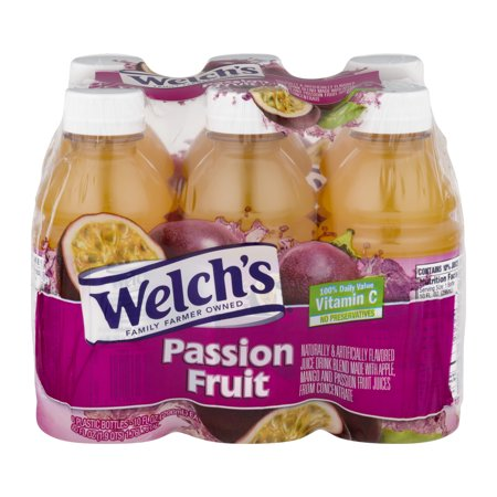 (4 Pack) Welch's Juice, Passion Fruit, 10 Fl Oz, 6