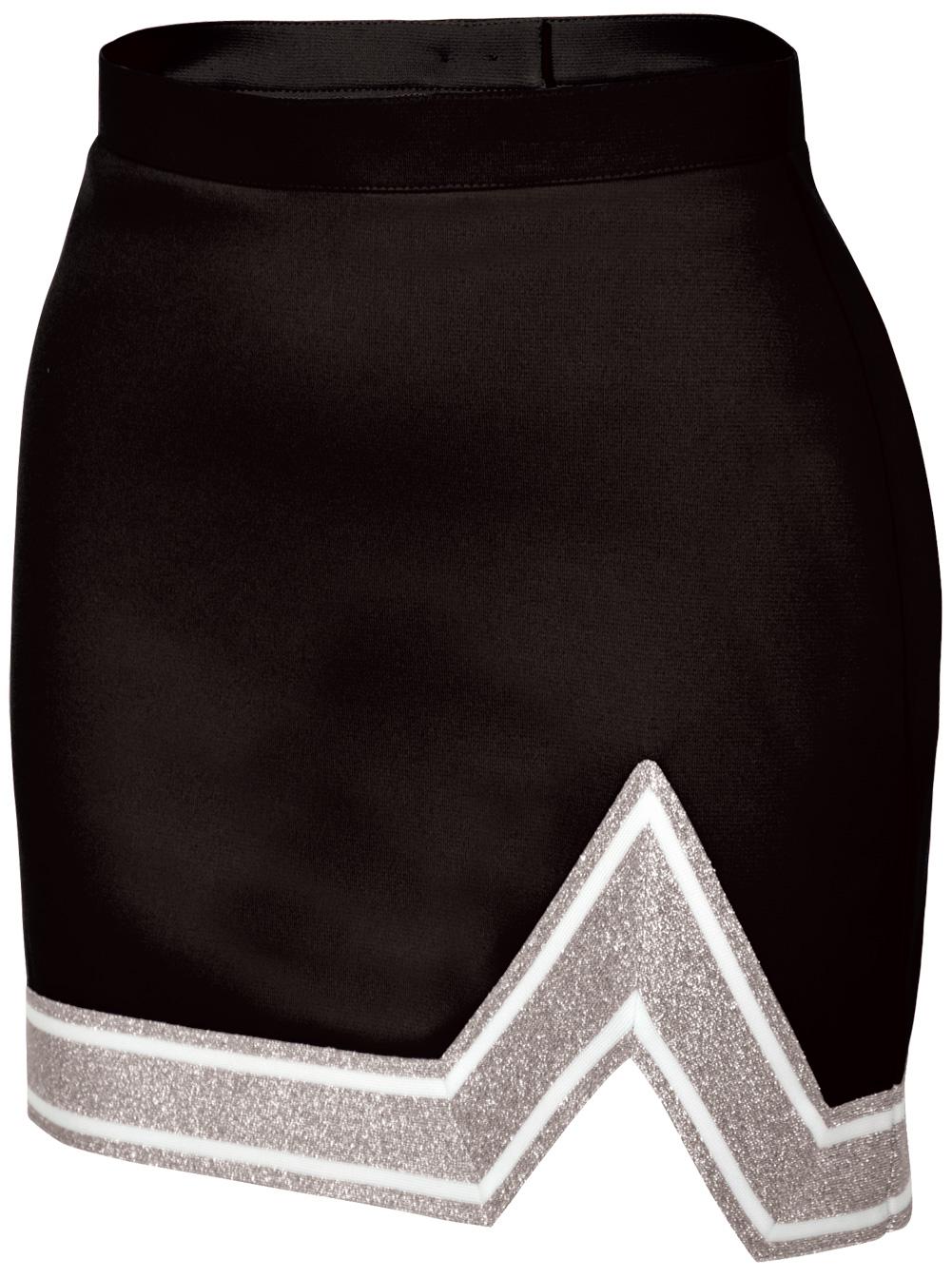 Chasse Girls' Blaze Skirt Black/White/Metallic Silver Youth Small Size - Small