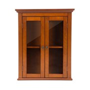 Glitzhome 24 1 H Wooden Bathroom Wall Storage Cabinet With Double Doors