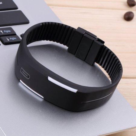Men Women New Fashion LED Luminous Touch Silicone Bracelet Digital Wrist Watch - image 7 of 8