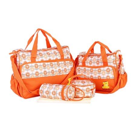 5Pcs Baby Changing Diaper Nappy Bags Mummy Mother Handbag Multi-functional Bag Set