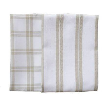 Rue Montmartre Checker Stripe 2 Piece Els Cotton Kitchen Towel Set