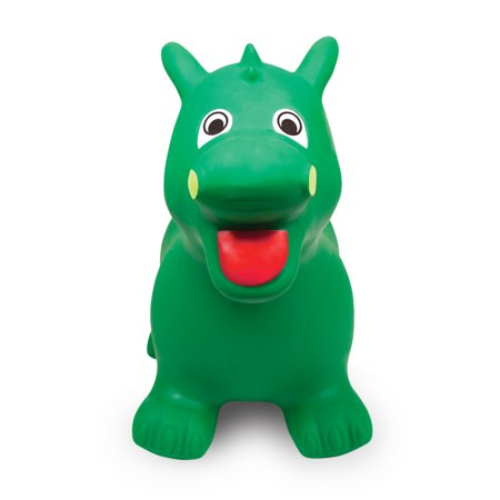 Waddle! Dragon Bouncer! Inflatable Ride on Toy (Green)](Inflatable Ride On Horse)