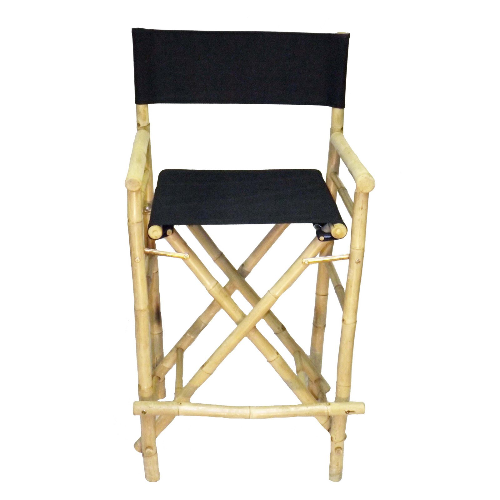 Bamboo54 Folding 27 In High Directors Chair With Cover