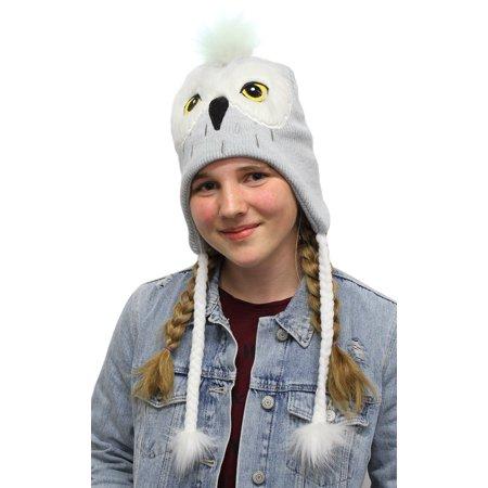Harry Potter Beanie Hedwig Owl Costume Laplander Hat Pom Beanie](Owl Poem)
