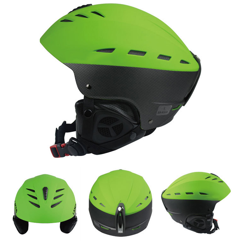 Women Men Adult Outdoor Sport Sturdy Ski Snowboard Bike Skate Helmet Sturdy ABS Shell Helmets Green Size:L: 58-61CM by
