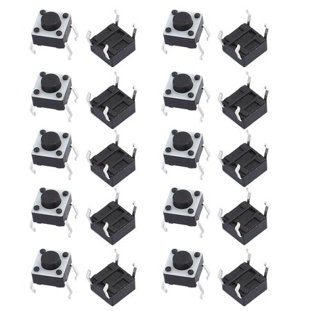 20Pcs 6mmx6mmx5mm Panel PCB Momentary Contact Push Button Switch 4 Terminals